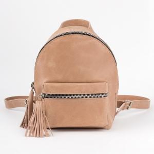 Кожаный рюкзак бежевый Lady Uranus