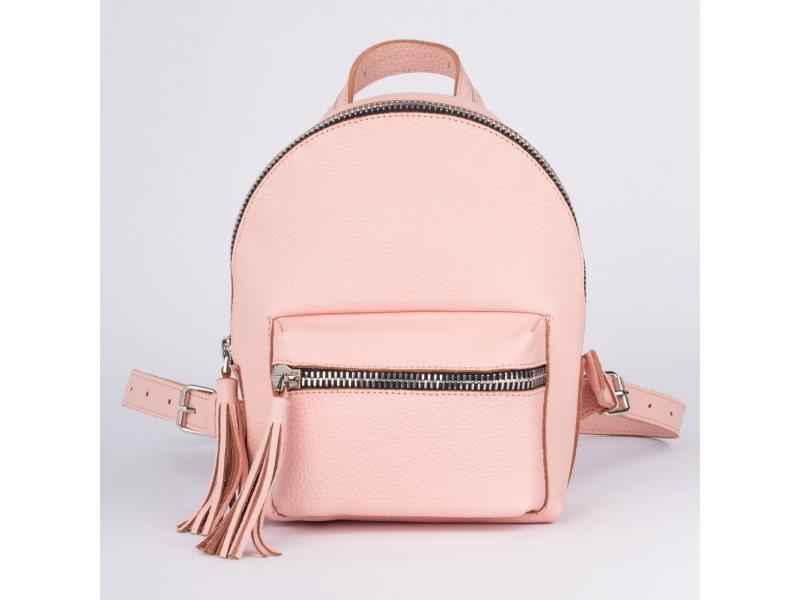 be29521041c4 Женский рюкзак из кожи Backpack Jordan голубой ручной работы