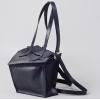Сумка-рюкзак кожаная черная Instability Line