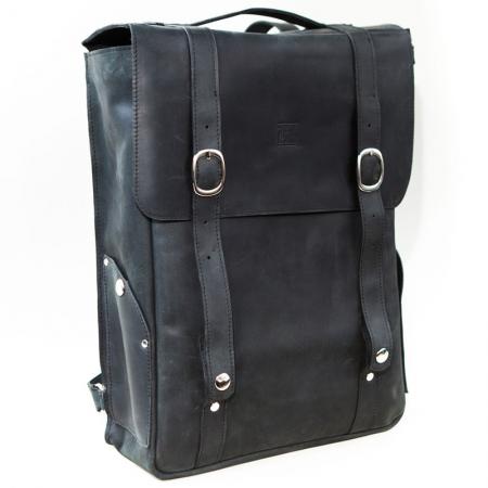 Кожаный рюкзак чёрный Bag pack ручной работы купить по лучшей цене