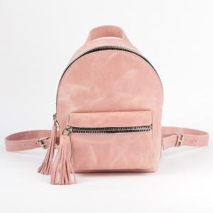 Кожаный рюкзак Backpack Amur голубой