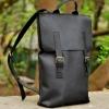 Рюкзак кожаный черный Backpack Youth Urban