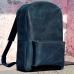 Рюкзак кожаный темно-синий ручной работы Backpack Leather купить по лучшей цене