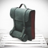 Рюкзак кожаный зеленый AMXPM