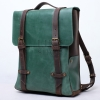 Рюкзак винтажный кожаный Bronx Green