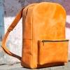 Рюкзак кожаный рыжий Backpack Big