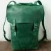 Кожаный рюкзак городской ручной работы Urban зелёный купить по лучшей цене