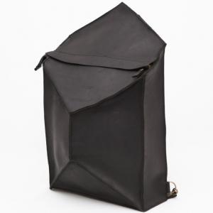 Рюкзак кожаный черный Bagpack Instability Line