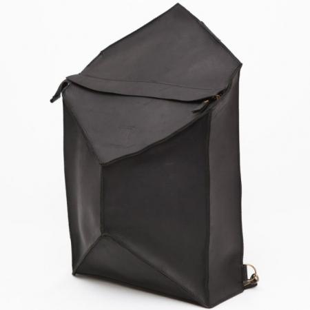 Кожаный рюкзак ручной работы Bagpack Instability Line Black купить по лучшей цене
