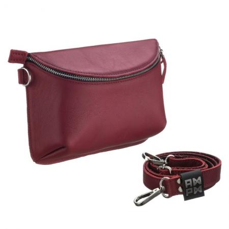 Поясная сумка кожаная Nappa Red