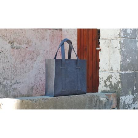 Кожаная женская сумка синяя Elegant Handbag Lather купить по лучшей цене