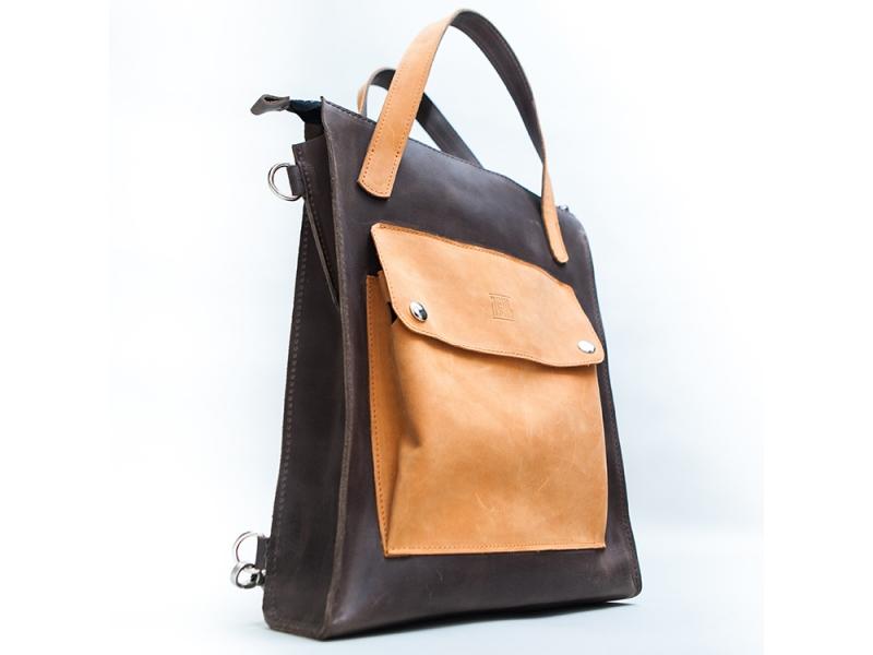 Сумка-рюкзак женская кожаная трансформер рюкзаки со стульчиком со спинкой для рыбалки