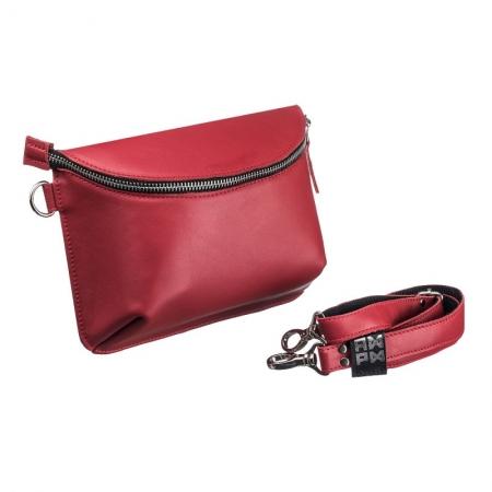 Поясная сумка кожаная Nappa Light Red