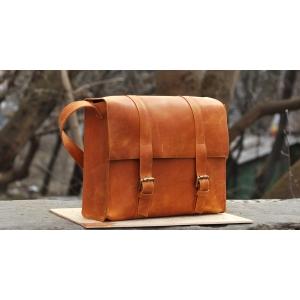 Сумка кожаная Bag Leather Orange