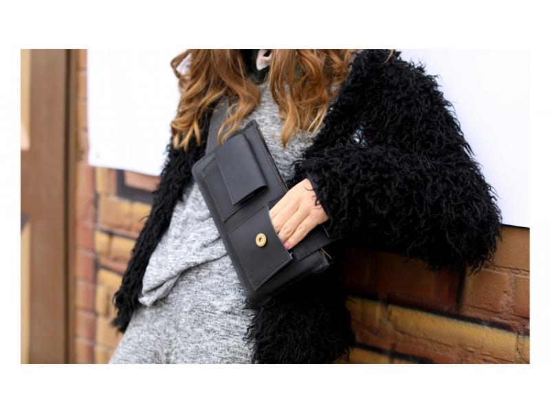 93d11eed177d ... Женская сумка из кожи Waist Bag чёрная купить по лучшей цене