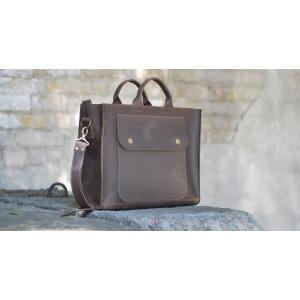 Сумка кожаная коричневая Bag Leather Biz