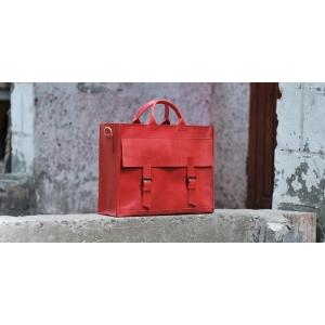 Сумка кожаная Bag Leather Red Unisex