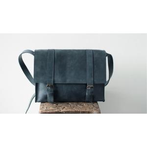 Сумка кожаная Bag Leather Blue