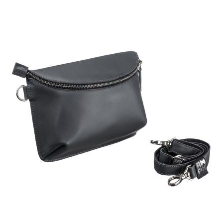 Поясная сумка кожаная Nappa Grey