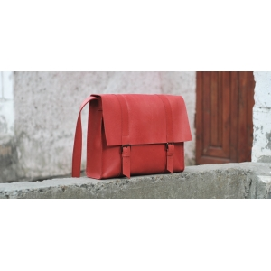 Сумка кожаная Bag Leather Red
