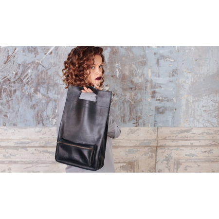 Женская сумка кожаная чёрная Image Style купить по лучшей цене
