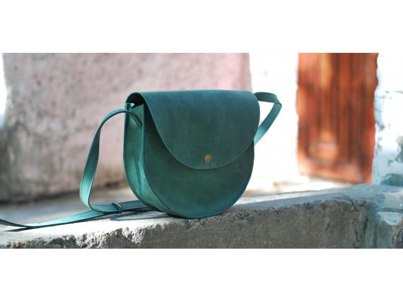 ebdcf4f3e4b6 Кожаная женская сумка через плечо Bag Retro зелёная купить по лучшей цене