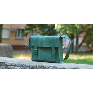 Сумка кожаная зелена Bag Business Leather