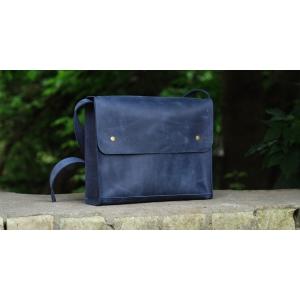 Сумка повседневная синяя Bag Leather