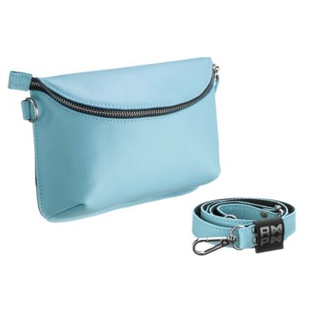 Поясная сумка кожаная Nappa Blue
