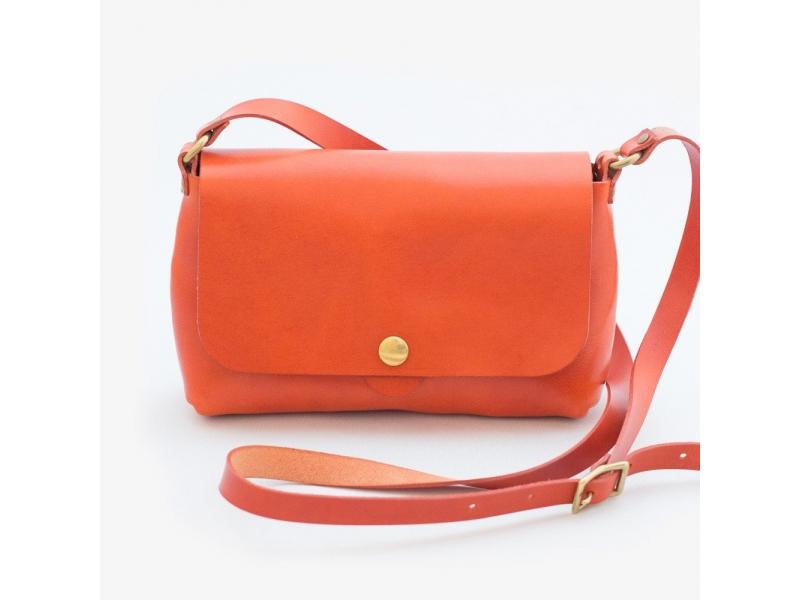 e6eceb6cd9ab Кожаная женская сумка через плечо Bag Slim ручной работы купить по лучшей  цене
