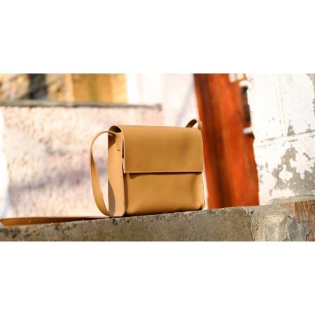 Кожаная сумка Fort бежевая купить по лучшей цене