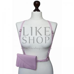 Женская портупея с кобурой Belt Leather Rose