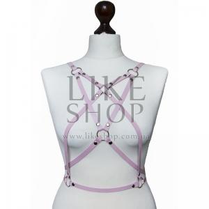 Женская портупея кожаная Belt Leather Pink