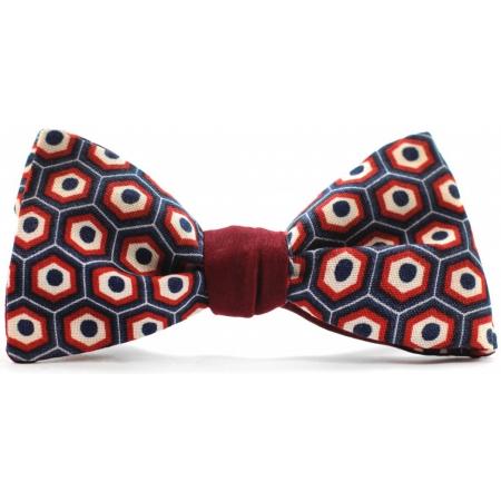 Бабочка-галстук бордовая с рисуноком Look Bright купить по лучшей цене