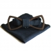 Деревянная бабочка Wooden Bow Tie Black and blues