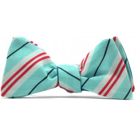 Бабочка-галстук бирюзовая Stripes Hipster купить по лучшей цене