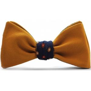Галстук-бабочка оранжевая двухсторонняя