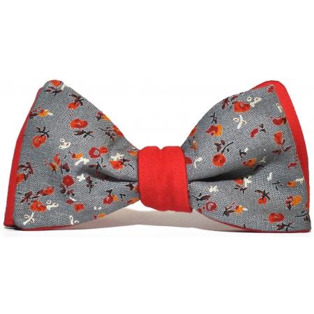 Бабочка-галстук Flowered Grey-Red купить по лучшей цене