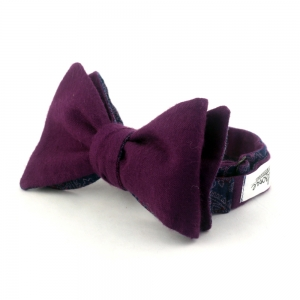 Галстук-бабочка Space Purple с цветами