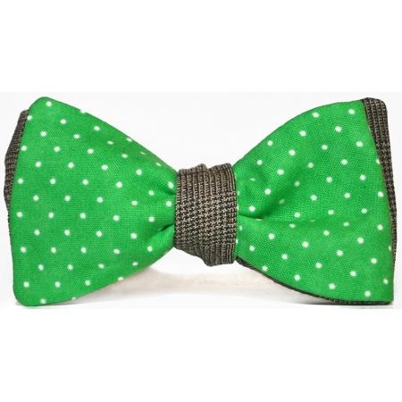 Бабочка-галстук Tweed Dots Green купить по лучшей цене