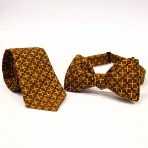 Комплект галстук и бабочка Cell с узором