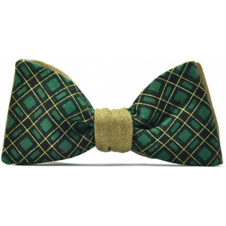 Зеленый галстук-бабочка купить Forrest Gump