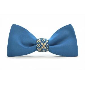 Галстук-бабочка синяя с орнаментом Blue Geometric