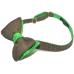 Серая бабочка с зелеными вставками в горошек Tweed Green Dots