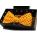 Галстук-бабочка оранжевая Polka Dots в горошек ручной работы