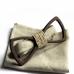 Деревянная бабочка ручной работы Bow Tie Handmade Black