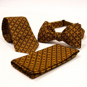 Комплект галстук, бабочка и платок Tessera с узором