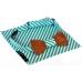 Галстук-бабочка Azure Stripes Wooden