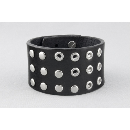 Кожаный браслет с заклепками купить по лучшей цене