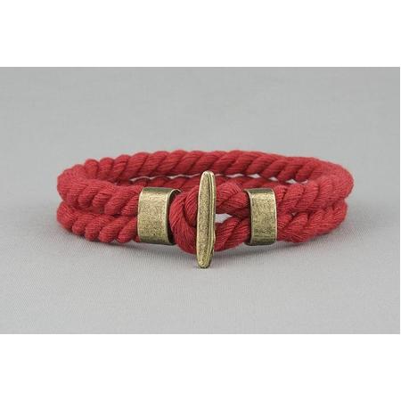 Браслет плетеный из каната красный арт. 341